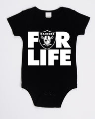 FOR LIFE - Raiders 4 Life Kids Shirt or Onesie