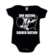 One Nation - Raiders 4 Life Kids Shirt or Onesie