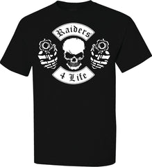 Skull & Guns Raiders 4 Life Tee Shirt