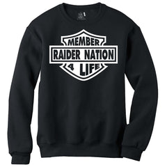 Raider Nation Member For Life Harley Logo - Raiders 4 Life Sweater