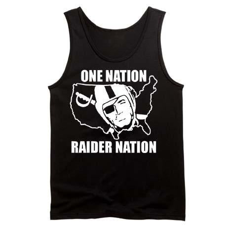 One Nation Raider Nation - Raiders 4 Life Tank Top