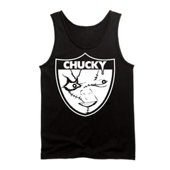 Chucky is Back in Black - Raiders 4 Life Tank Top