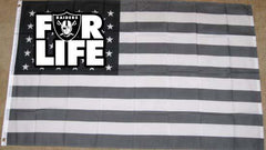 FOR LIFE - 3'X5' Raiders 4 Life Banner
