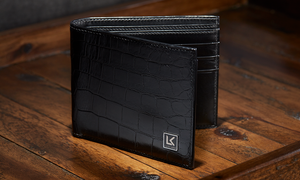Crocodile leather wallets