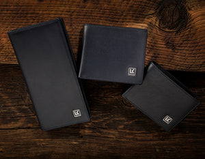Traditional leather wallets