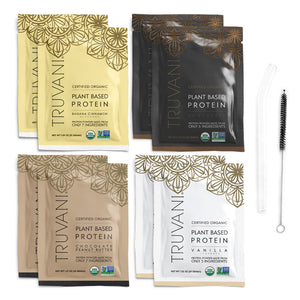 Truvani Plant-Based Protein Starter Kit with Glass Straw
