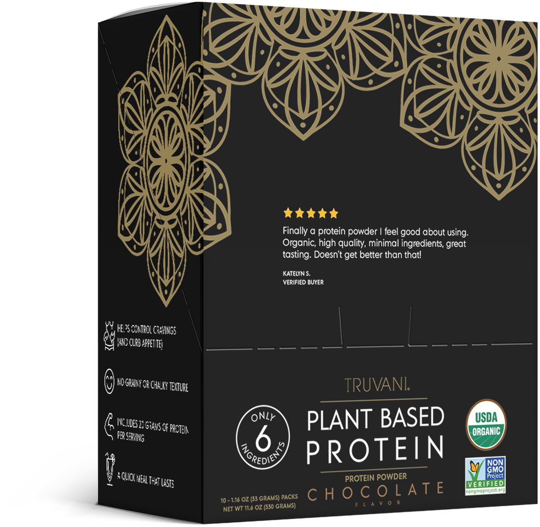 Plant Based Protein Powder (Chocolate) Single Serve - 10 Count Box Monthly Subscription