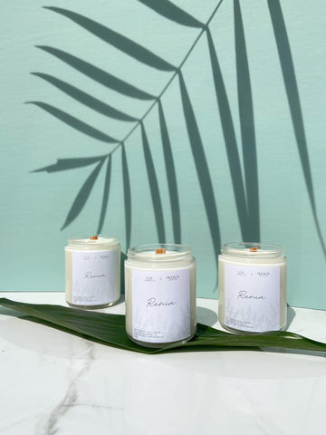The Renia Candle, by Luz Candle in partnership with Iremia Skincare for Mother's Day