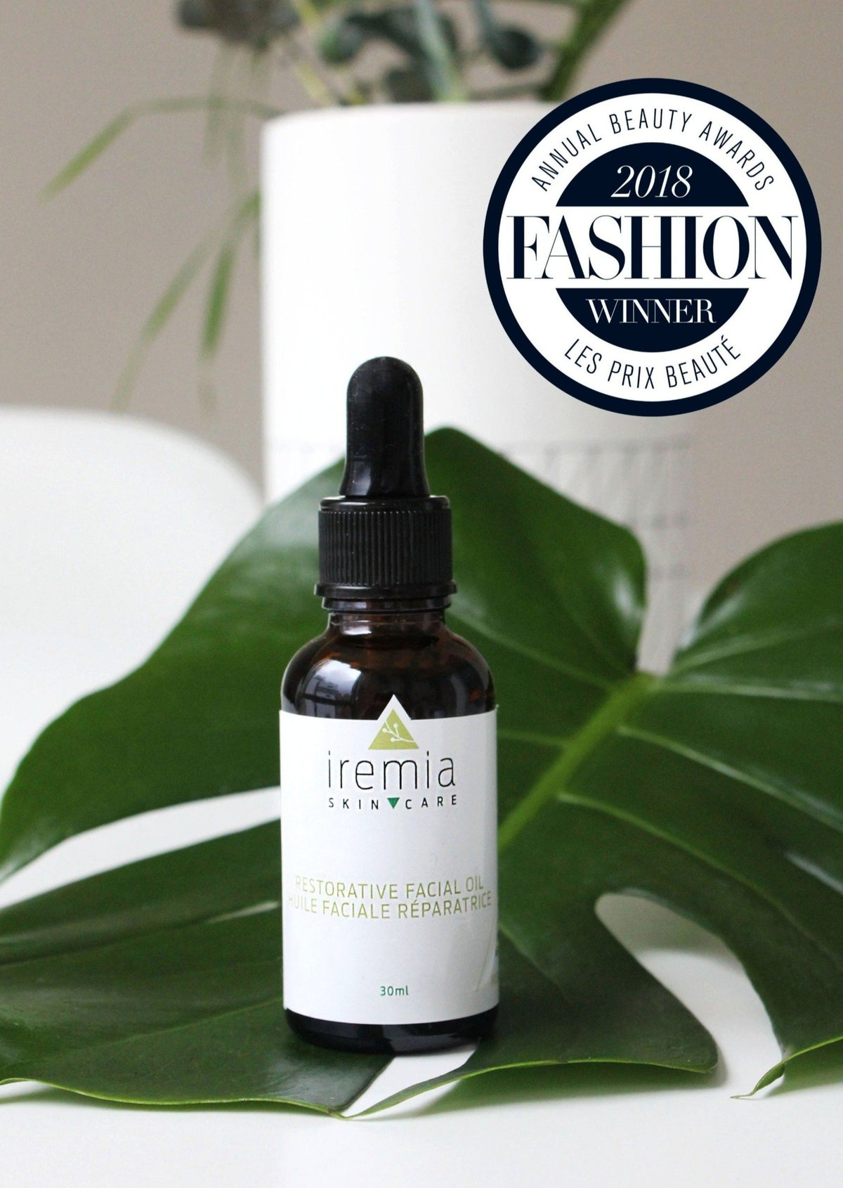 FASHION Magazine's Best Facial Oil. A beautiful blend of 11 botanical oils, including Argan, Rosehip and Sea Buckthorn oil. Packed with Omega-3, 6 and 9 fatty acids, this award-winning facial oil helps rejuvenate your skin and improves skin tone, elasticity and overall hydration.