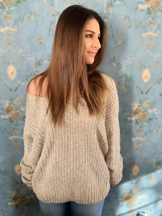 Open Back Twist Women's Sweater
