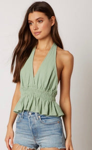 matcha halter top