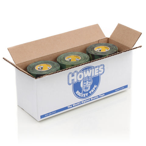 Howies Green Camo Hockey Tape- Cloth Tape-Bulk 12pk-Howies Hockey Tape