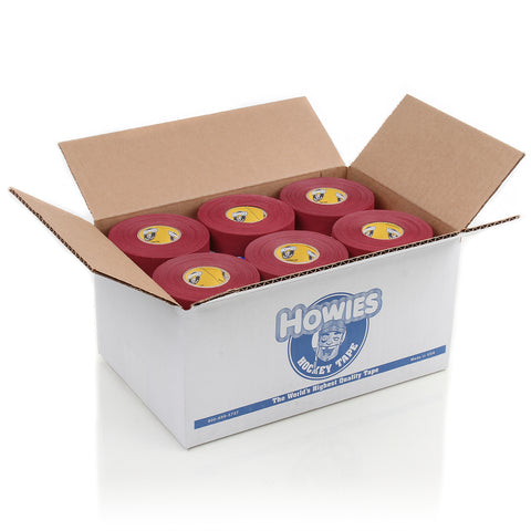 Howies Maroon Cloth Hockey Tape- Cloth Tape-36pk-Howies Hockey Tape