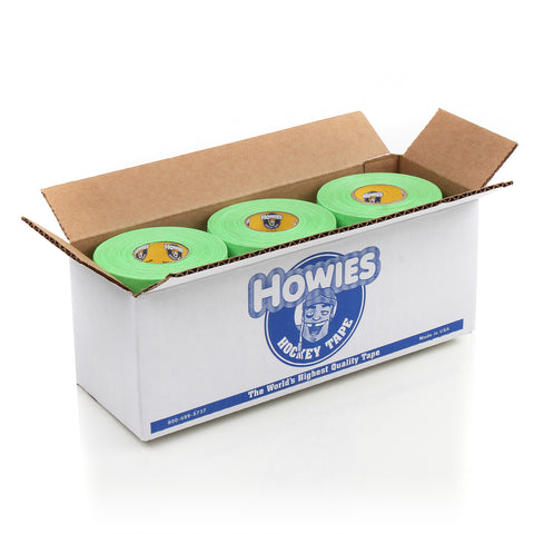Howies Neon Green Cloth Hockey Tape- Cloth Tape-12pk-Howies Hockey Tape