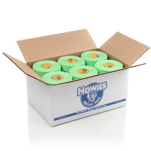 Howies Neon Green Cloth Hockey Tape- Cloth Tape-Bulk 36pk-Howies Hockey Tape