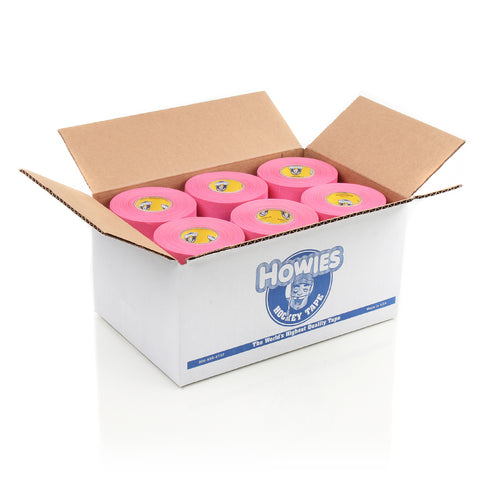 Howies Pink Cloth Hockey Tape- Cloth Tape-Bulk 36pk-Howies Hockey Tape