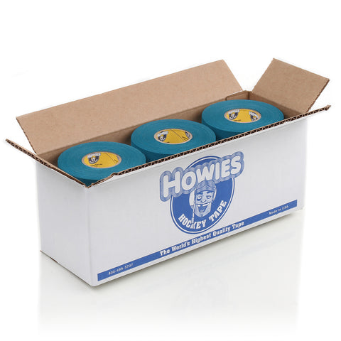 Howies Teal Blue Cloth Hockey Tape- Cloth Tape-Bulk 12pk-Howies Hockey Tape