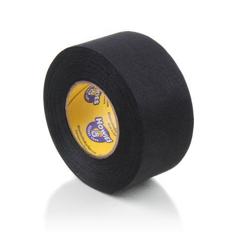 "Howies 1.5"" Black Cloth Hockey Tape- Cloth Tape-1pk-Howies Hockey Tape"