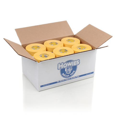 Howies Yellow Cloth Hockey Tape- Cloth Tape-Bulk 36pk-Howies Hockey Tape