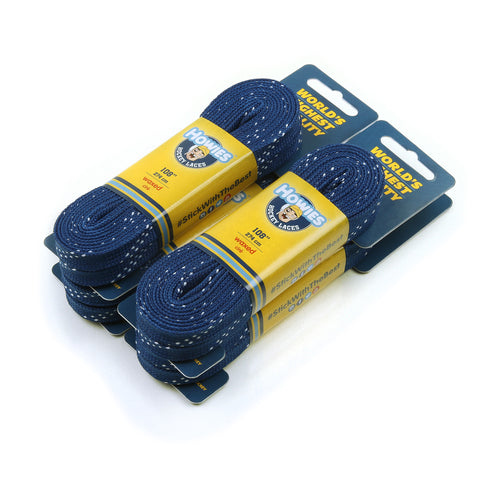 "Howies Royal Blue Waxed Hockey Skate Laces- Waxed Laces-4pk-72"" 84"" 96"" 108"" 120""-Howies Hockey Tape"