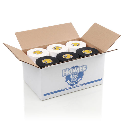 Howies Hockey Tape - 15 White Cloth & 15 Black Cloth- Mixed Tape Cases-Howies Hockey Tape