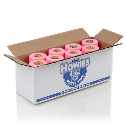 Howies Pink Pro Grip Hockey Tape- Grip Tape-Bulk 12pk-Howies Hockey Tape