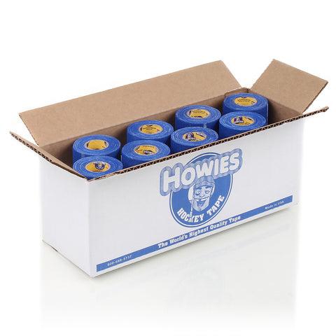 Howies Blue Pro Grip Hockey Tape- Grip Tape-Bulk 12pk-Howies Hockey Tape