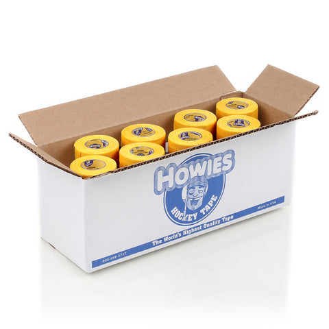 Howies Yellow Pro Grip Hockey Tape- Grip Tape-Bulk 12pk-Howies Hockey Tape