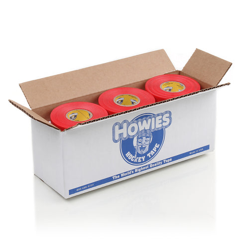 Howies Red Shin Pad Hockey Tape - Bulk 12pk - Howies Hockey Tape