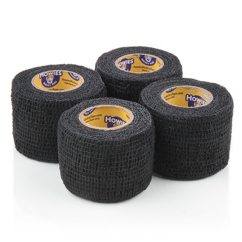 Howies Black Stretchy Grip Hockey Tape- Grip Tape-4pk-Howies Hockey Tape