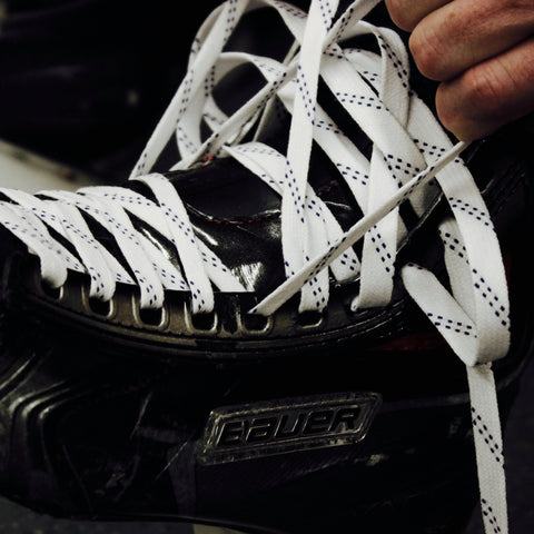 Howies White Waxed Hockey Skate Laces