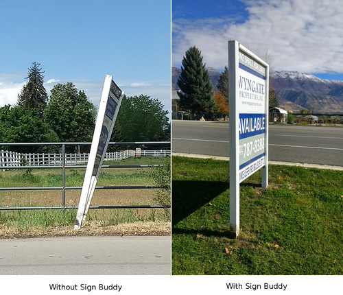 Sign Buddy - Double Post Real Estate Sign Stabilizer