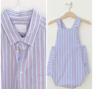 Upclycled Children's clothes, made from shirts, classic style children's clothes