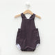 Heirloom Bubble Romper  - Neil's Burgundy Checked Shirt (12-18 mo.)