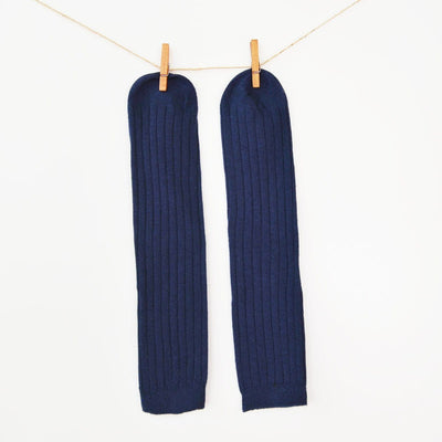 Tall cable knit patterned high knee socks.  100% Soft Cotton Machine Wash Tumble Dry Imported
