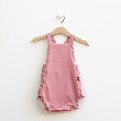 Cute Classic European Style Baby Bubble Romper - Corduroy Vintage Pink - Reversible