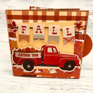 Fall Vintage Truck Scrapbook