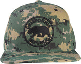 N21CA120- Structured Cotton Camoflage California Republic Logo Patch Designed Snapback