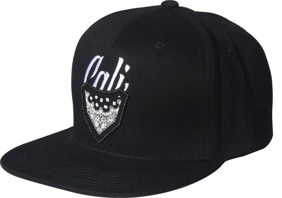 N21CAL68-2T- 2 Tone Structured Cotton Cali Badge Logo Designed Snapback