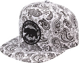 N21CRE45-Structured Polyester Cali Bear Logo Snapback