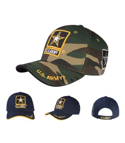 A03ARM01-US Army Logo Licensed Embroidered Military Cap