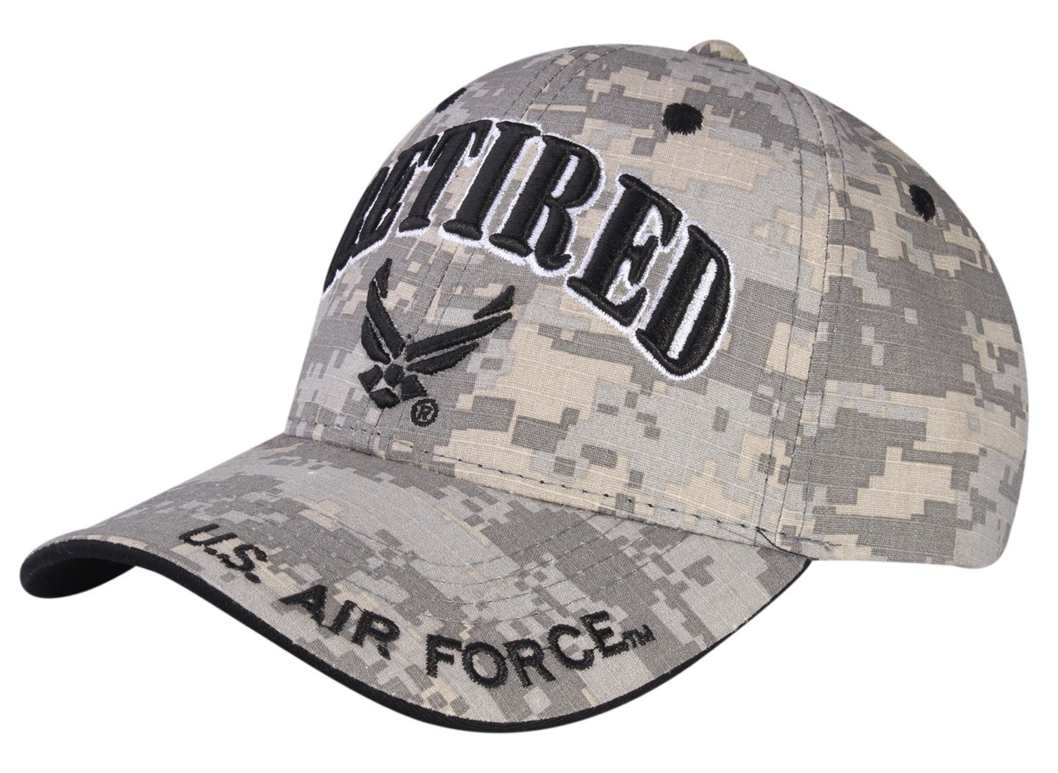 cebf0ff8545 A air retired u air force logo licensed embroidered military cap JPG  1507x1101 Air force retired