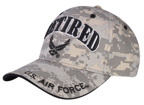 A04AIR01-Retired U.S Air Force Logo Licensed Embroidered Military Cap