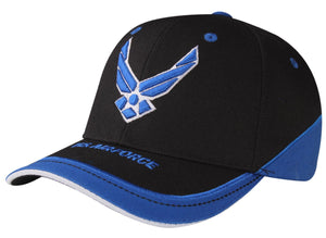 A04AIR02- US Air Force Military Logo Licensed Embroidered Baseball Cap