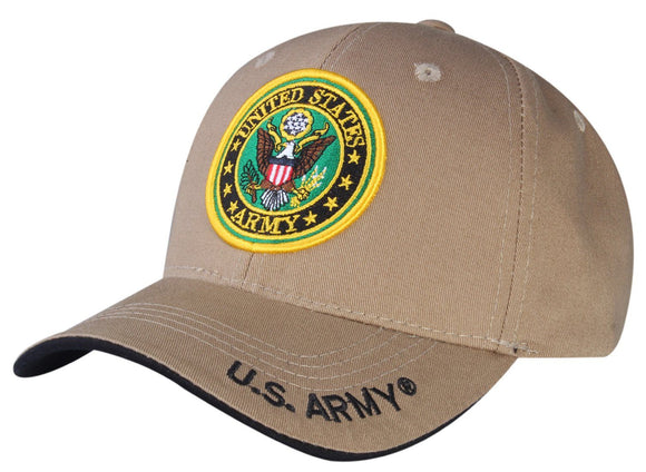 A04ARM05-U.S Army Logo Licensed Embroidered Military Cap 05