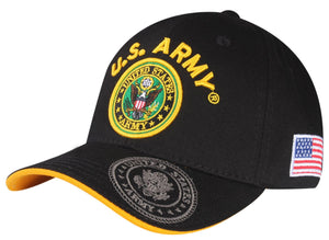 A04ARM06-U.S Army Logo Licensed Embroidered Military Cap 06