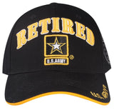 A04ARR03- Retired US Army Logo Designed Licensed Embroidered Military Cap