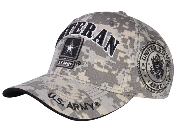 A04ARV03- U.S Veteran Logo Licensed Embroidered Military Cap 03