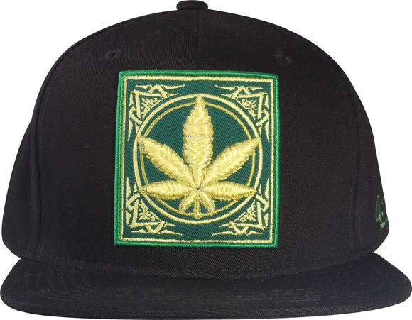 N21MAR11- Structured Cotton Weed Logo Desgined With Back Brim 4:20 Printed Snapback