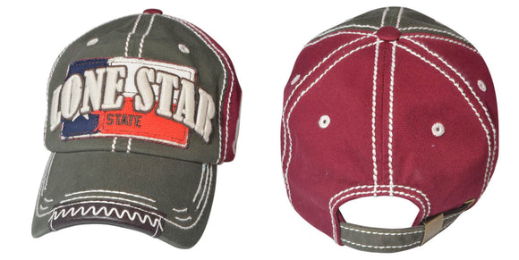 Wholesale WASH CAP TEXAS 03 STYLE BUR AND OLV COLOR